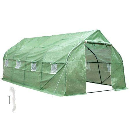 Fóliasátor növénytermesztéshez 600x300x205 cm 18m² melegház