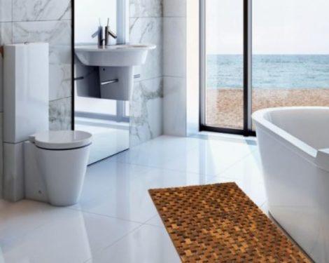 Fürdőszoba mozaik szőnyeg akácfa kilépő 50x80 időjárásálló