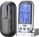 Digitális füstölő hőmérő rádiós külső érzékelő szonda smoker hőmérő