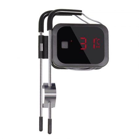 Füstölő hőmérő grillhőmérő smoker hőmérő 1-2 érzékelővel, bluetooth kapcsolattal