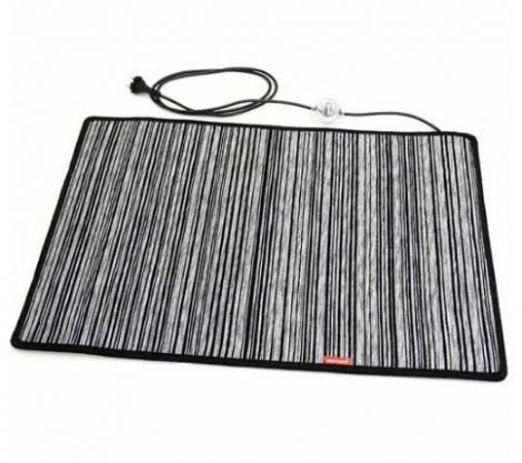 Fűthető zsenília lábtörlő 50 x 75 cm 100 Watt fekete