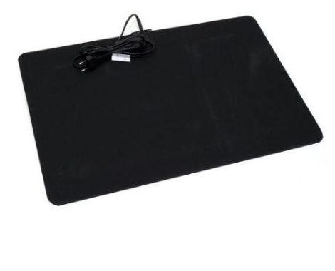 Gumi fűthető lábtörlő 60°C 60 x 60 cm 121 watt fekete színben