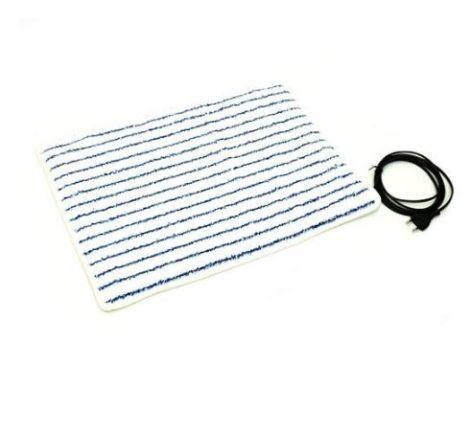 Fűthető lábtörlő, fürdőszobai kilépő 55 x 40 cm 30 Watt fehér - kék