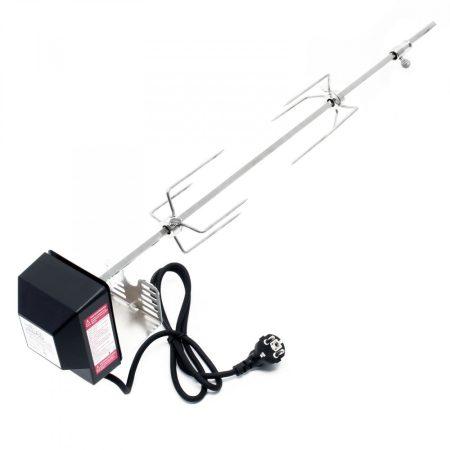 Rozsdamentes acél BBQ grill nyárs 72 cm-es, hústűvel saválló inox