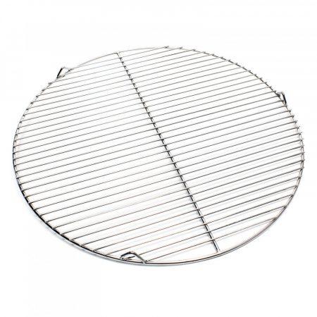 Rozsdamentes grillrács kerek 55 cm átmérőjű grillsütőhöz, inox saválló acél