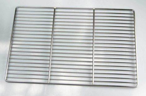 Grillrács rozsdamentes szögletes grillsütőhöz. Mérete 50x35 cm. Inox és nem csak krómozott!