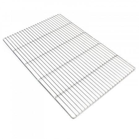 Grillrács rozsdamentes szögletes grillsütőhöz. Mérete 60x40 cm. Inox és nem csak krómozott!