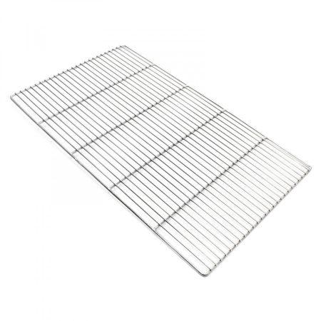Grillrács rozsdamentes szögletes grillsütőhöz. Mérete 67x40 cm. Inox és nem csak krómozott!