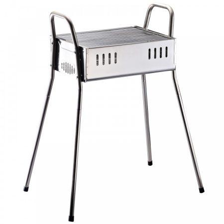 Grillsütő rozsdamentes acél szén grill kivehető lábakkal