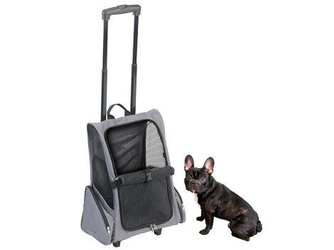 Gurulós szállítótáska és hátizsák háziállatokhoz, 20 kg-ig