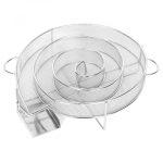 Grillrács rozsdamentes kerek 45 cm 46 cm 47 cm és 48 cm átmérőjű grillsütőhöz és WEBER 47-es sorozat