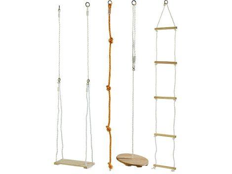 Hinta készlet 4 részes mászóka kötéllétra tányérhinta mászókötél