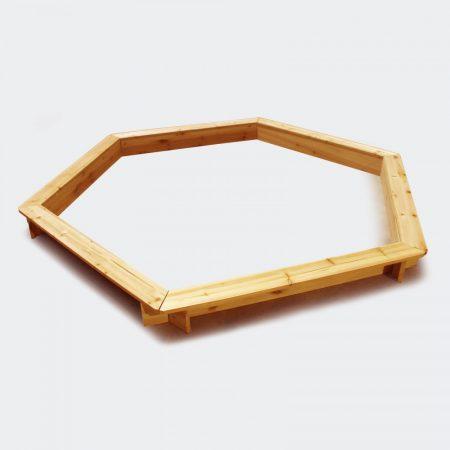 Nagyméretű homokozó hatszögletű forma Átmérő 180 cm
