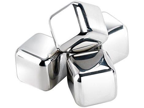 Jégkockák rozsdamentes acélból, 4 db, 25 mm