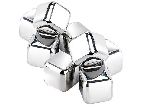 Jégkockák rozsdamentes acélból, 8 db, 25 mm
