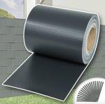 Kerítésbe fűzhető PVC műanyag szalag 35 m hosszú 19 cm magas sötét szürke belátásgátló szélfogó
