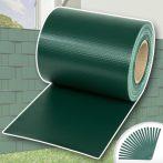 Kerítésbe fűzhető PVC műanyag szalag 35 m hosszú 19 cm széles zöld belátásgátló szélfogó