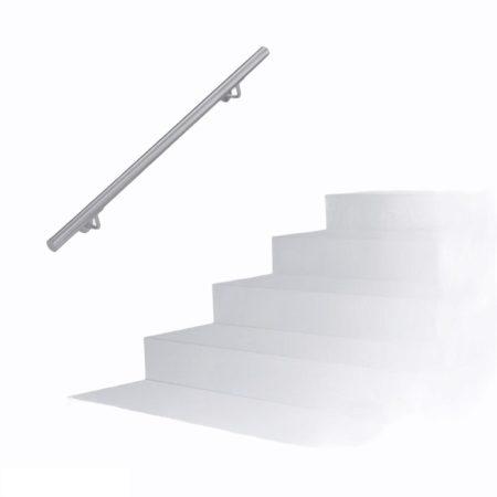Lépcsőkorlát rozsdamentes acél kapaszkodó 100 cm korlát átmérője 40 mm
