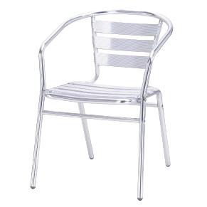 Kávézó szék kültéri alumínium rakatolható fém
