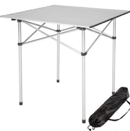 Összecsukható kerti piknik kemping asztal vizálló 75x55x60 cm
