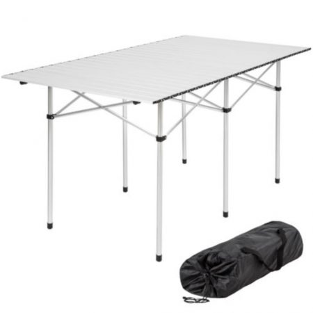 Harmonika asztallap Összecsukható kerti piknik kemping asztal vizálló 140x70x70 cm túrára is kiváló