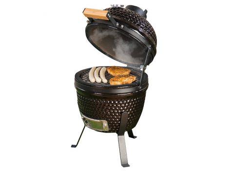 2in1 Kamado kerámia grill és smoker hőmérővel, szellőztetővel Ø 27 cm