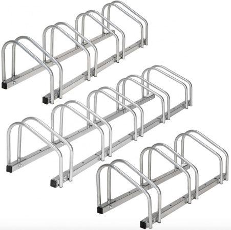 Kerékpár 5 beállásos állvány tartó beltérre vagy kültérre bicikli
