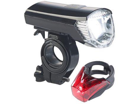 Kerékpár világítás első hátsó bicikli lámpa készlet akkumulátoros USB kábellel akku töltés