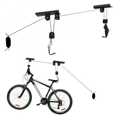Kerékpár tartó horog bicikli függesztő emelő kampó plafonra, mennyezetre szereléshez