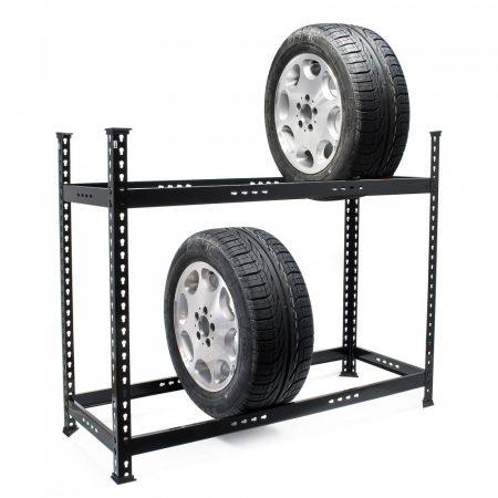 Professzionális gumiabroncs-állvány 120x44x101 cm 6-8 gumiabroncs számára 150 kg