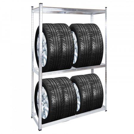 Professzionális gumiabroncs-állvány 165 x 100 x 40 cm 8 gumiabroncs számára 100 kg