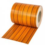 Belátásgátló szalag kerítésbe fűzhető PVC műanyag szalag 35 m hosszú 19 cm széles famintás