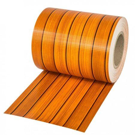 Belátásgátló szalag kerítésbe fűzhető PVC műanyag szalag 70 m hosszú 19 cm széles famintás