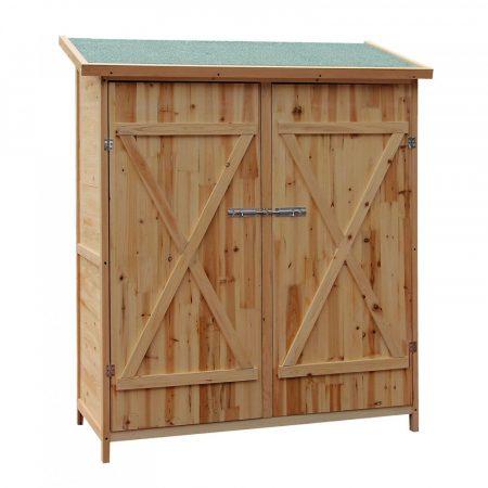 Tüzifa tároló kis ház kerti tároló tüzifához 38 x 65,5 x 160 cm