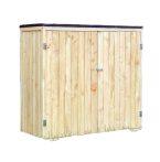 Két ajtós kerti fészer, kis faház szerszámok tárolásához 136 x 127 x 58 cm