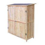 Dupla ajtós kerti fészer, kis faház szerszámok tárolásához 138 x 155 x 55cm