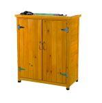 Fából készült kerti kisház fészer szekrény szerszámos kamra 75x40x90 cm