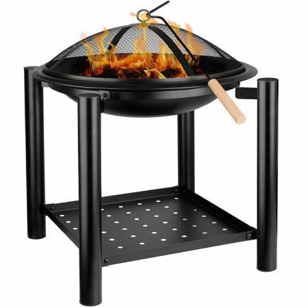 Mobil tűzrakó hely hordozható tűztér kerti tüzelő asztal állvány