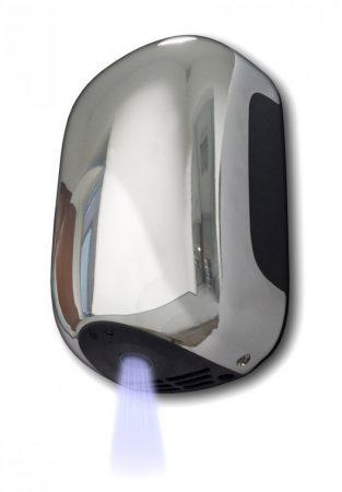 Kisméretű kézszárító infravezérlésű fali 230V 900W automata infrás krómozott hotel étterem Made in I