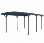 Alumínium autóbeálló, kocsi előtető 576 x 300 cm