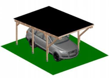 Konzolos kocsibeálló 5x3 méter, a fa FSC tanúsítvánnyal rendelkezik