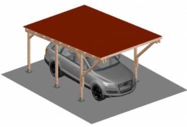 Konzolos kocsibeálló 5 x 3 méter csempézett tetővel, leszúrható dübel