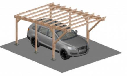 Kocsibeálló pergola 5 x 3 méter