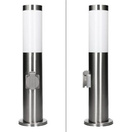 Kültéri lámpa 45cm, egy hálózattal E27 rozsdamentes acél aljzat