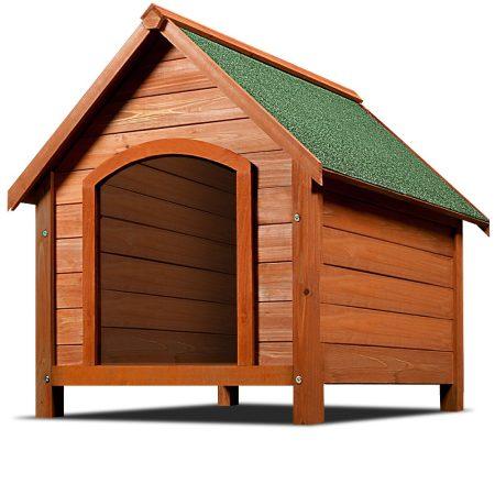 Felnyitható tetejű fa kutyaház bitumen tető, minőségi lazúrozott fa kivitel 82 x 72 x 85 cm