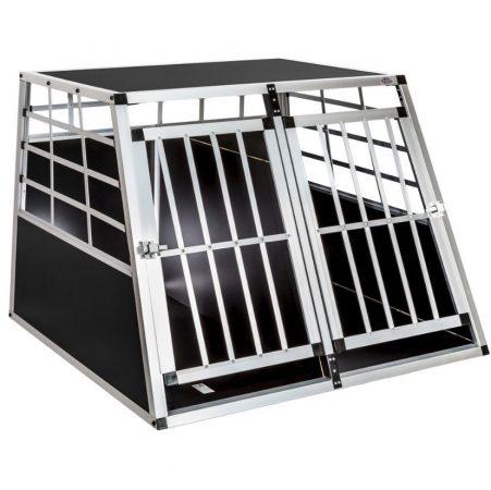Kutya szállító autóba mobil autós ketrec hordozó kennel  97 x 90 x 69,5 cm