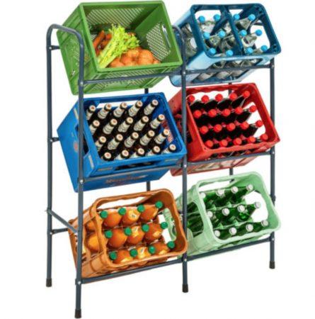 Praktikus láda tároló, összecsukható dobozok vagy műanyag, fa ládákat tárolhat rajta.