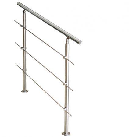 Lépcsőkorlát rozsdamentes 100 cm hosszú kapaszkodó 42 mm átmérővel  saválló inox anyagból, 3 darab l