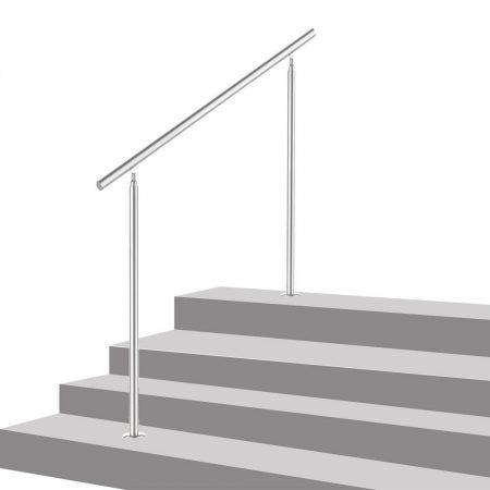Lépcsőkorlát rozsdamentes 80 cm hosszú kapaszkodó 42 mm átmérővel  saválló inox anyagból keresztruda