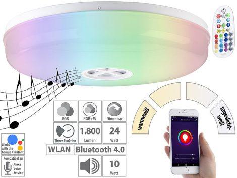 24W Okos világítás Smart Luminea Home Control WLAN RGB fehér és színes fali színváltós lámpa